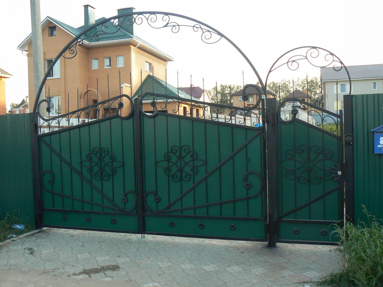 Ворота своими руками узорами